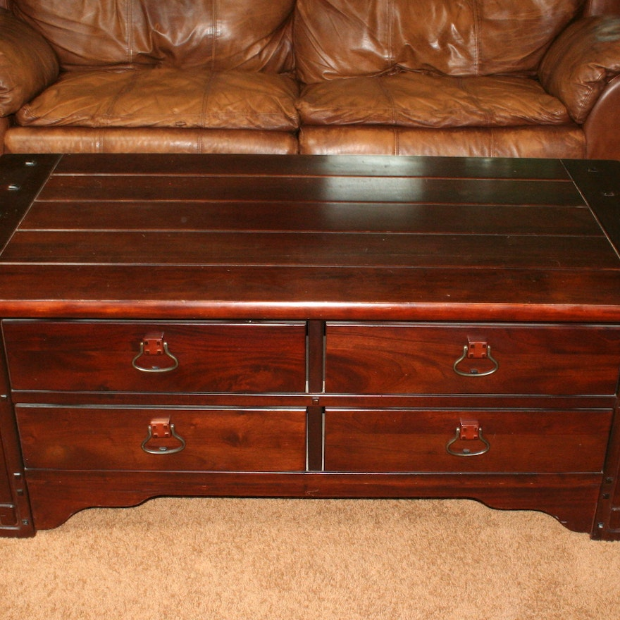 Mission Style Coffee Table With Storage