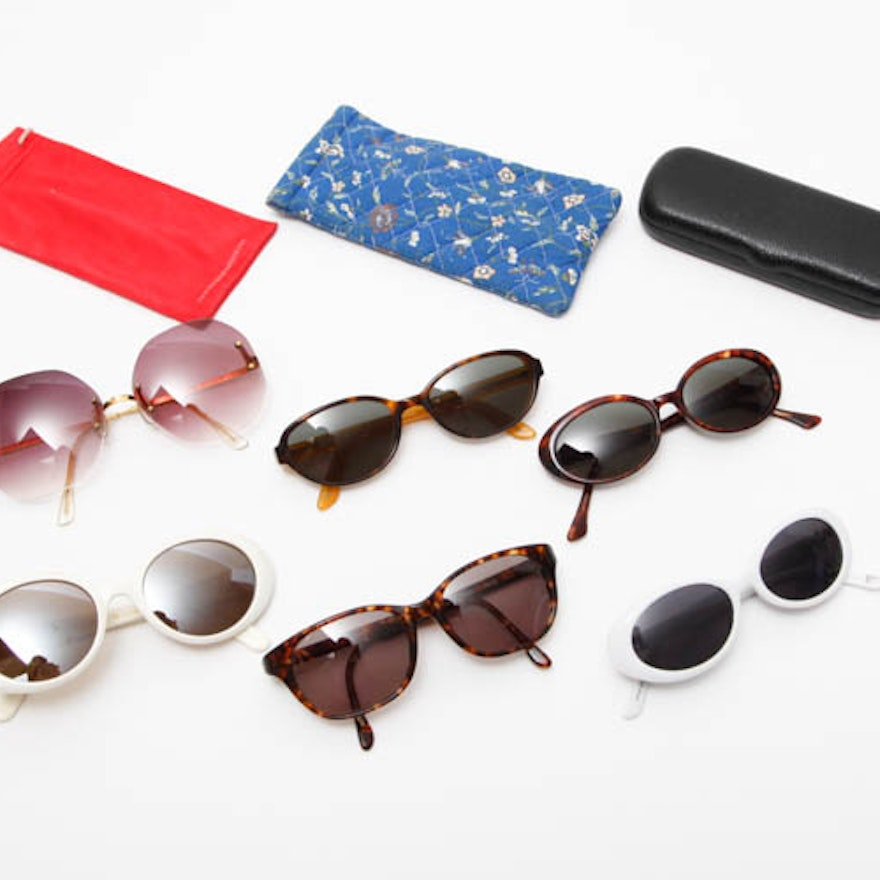 Sunglasses, Cases, and Cleaning Cloths