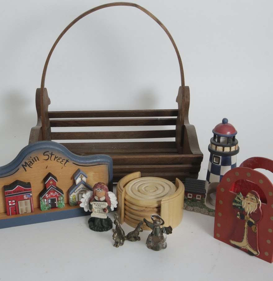 Assortment of home d cor items ebth for Decorative objects for home