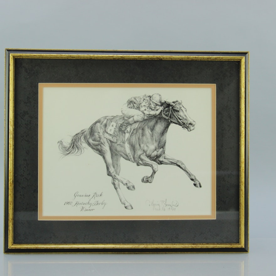 Signed Lithograph Of Genuine Risk By Catherine Bloomfield EBTH