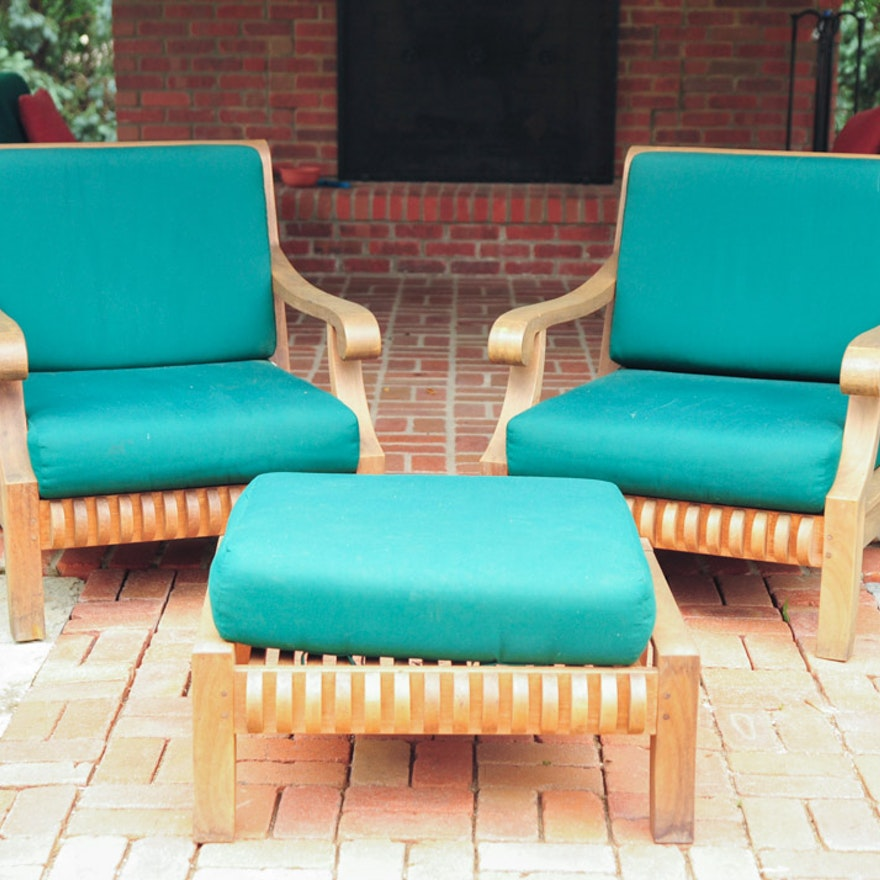 Hawken Avignon Teak Club Chairs
