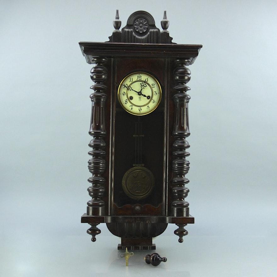 Gustav Becker Regulator Wall Clock Ebth