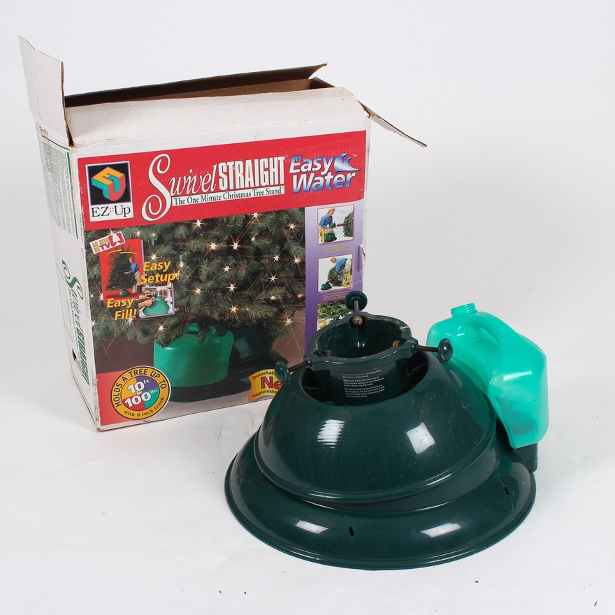 Christmas Tree Watering System.Swivel Straight Christmas Tree Stand And Watering System