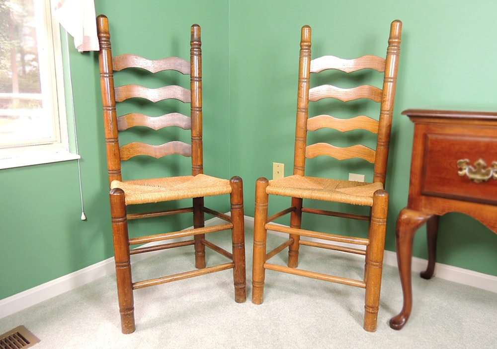 Vintage Amish Rush Chairs ...