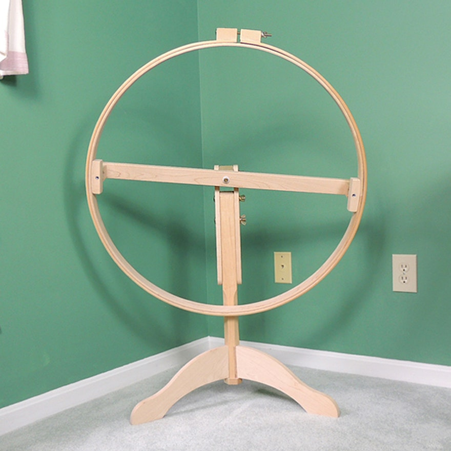 Homestead Quilting Hoop and Floor Stand by Hinterberg Design : EBTH : quilting hoop stand - Adamdwight.com