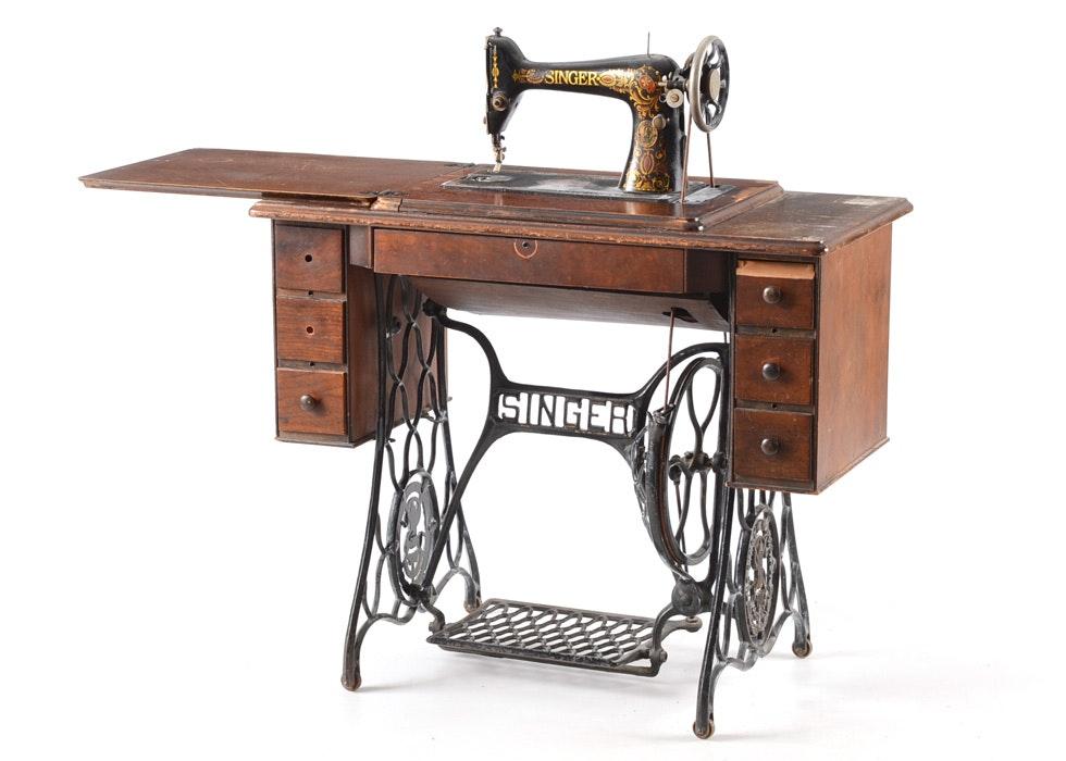 antique singer pedal sewing machine
