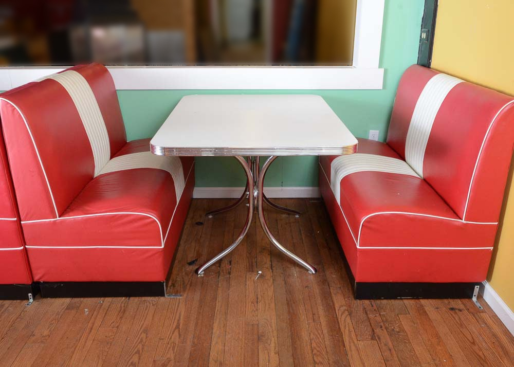 1950s Style Reproduction Restaurant Booth & Vintage Chairs Antique Chairs and Retro Chairs Auction in Russell ...