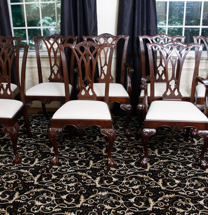 Drexel Heritage Chippendale Style Dining Chairs : EBTH