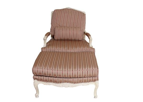 Louis xv style fauteuil and ottoman ebth - Fauteuil ottoman cinna ...