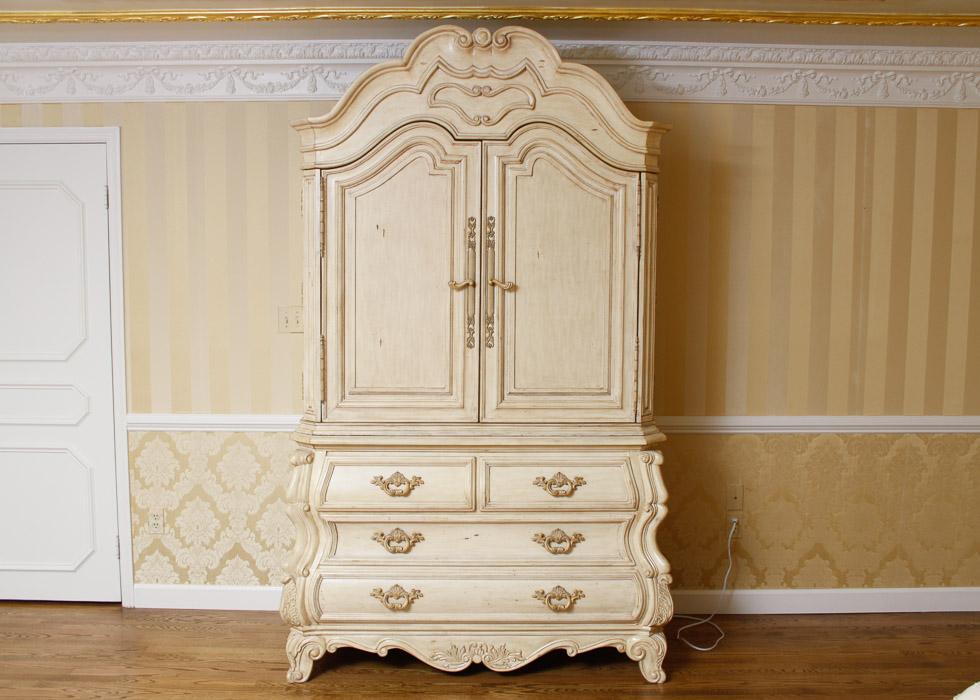 Rococo Revival Style Armoire  EBTH -> Armoire Style Baroque