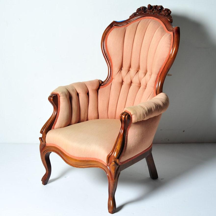 Antique Victorian Gentlemans Parlor Chair ... - Antique Victorian Gentlemans Parlor Chair : EBTH