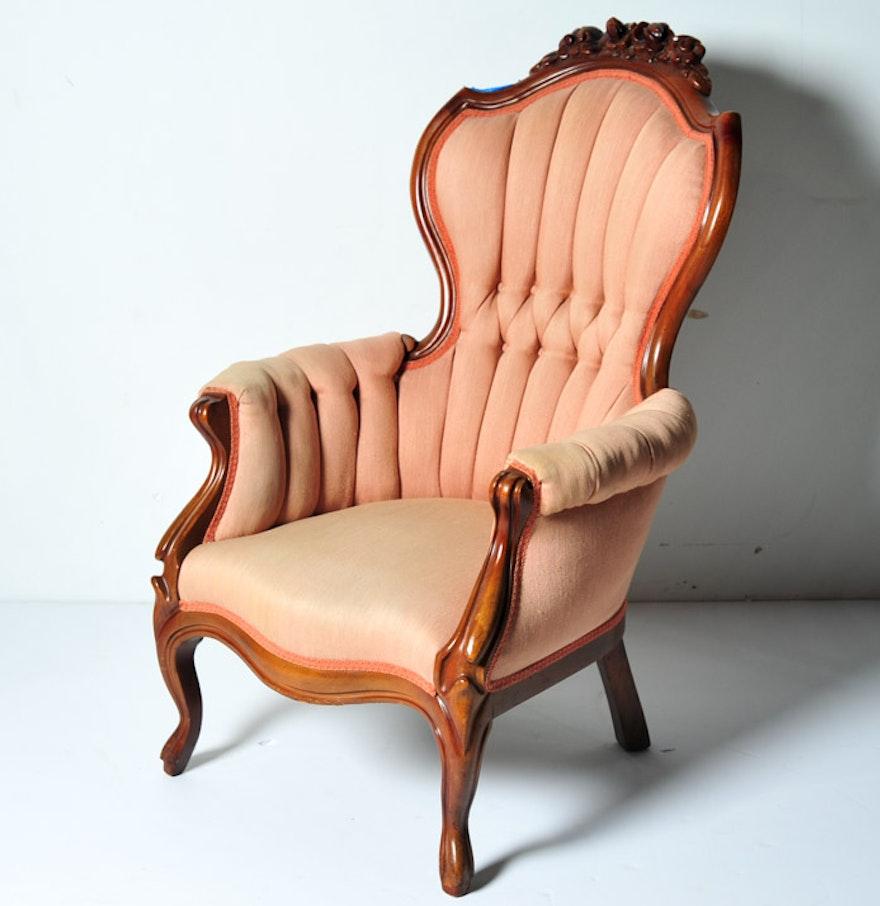 Antique victorian parlor chairs - Antique Victorian Gentlemans Parlor Chair