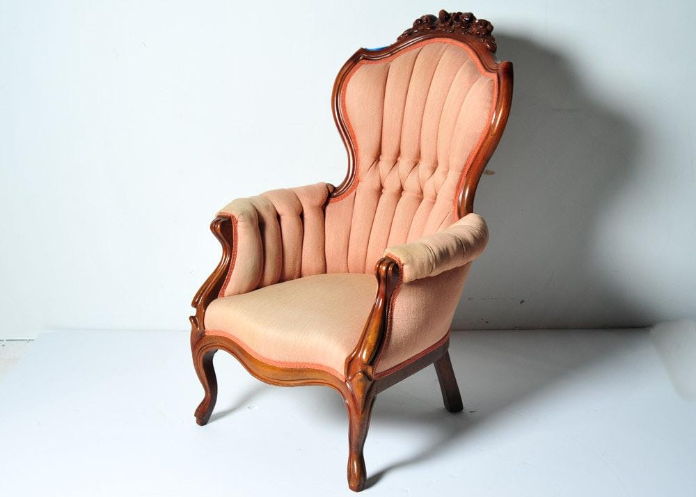 Antique Victorian Gentlemans Parlor Chair