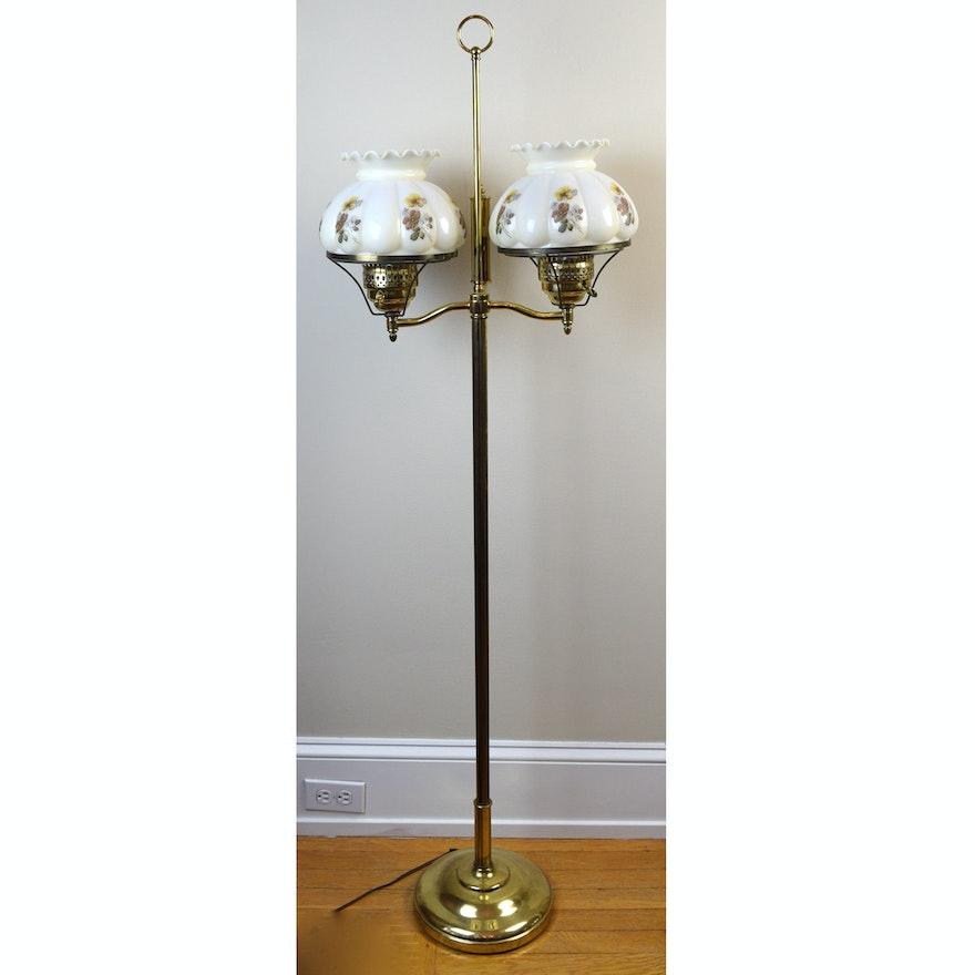 Hurricane shade brass floor lamp ebth hurricane shade brass floor lamp mozeypictures Image collections