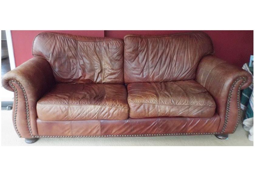 Robinson And Robinson Brown Leather Sofa Ebth