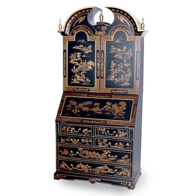 Chinoiserie Secretary - Online Furniture Auctions Vintage Furniture Auction Antique