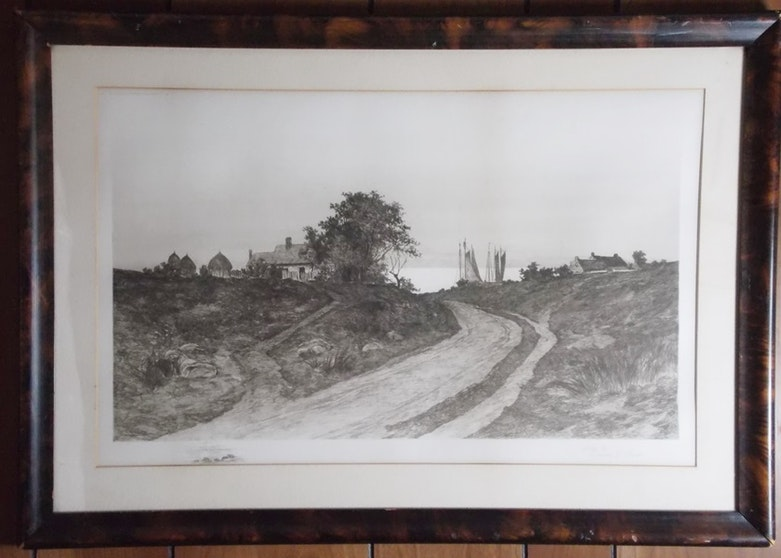 Quot The Old Elm Road Quot Antique Etching By Ernest C Rost Ebth