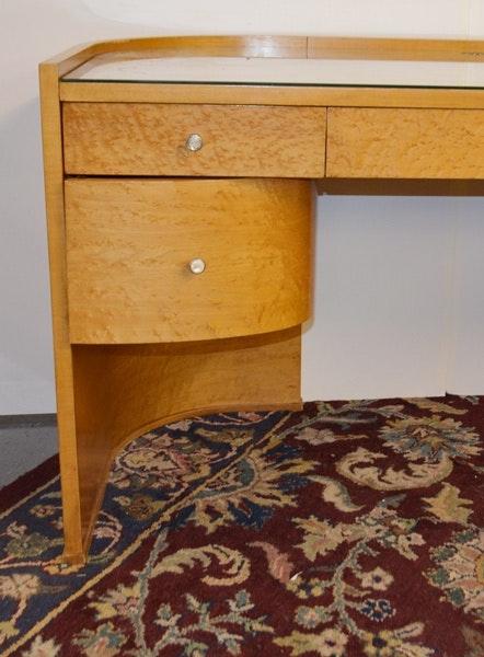 Birds eye maple desk by bernhardt for martha stewart for Furniture consignment bellevue