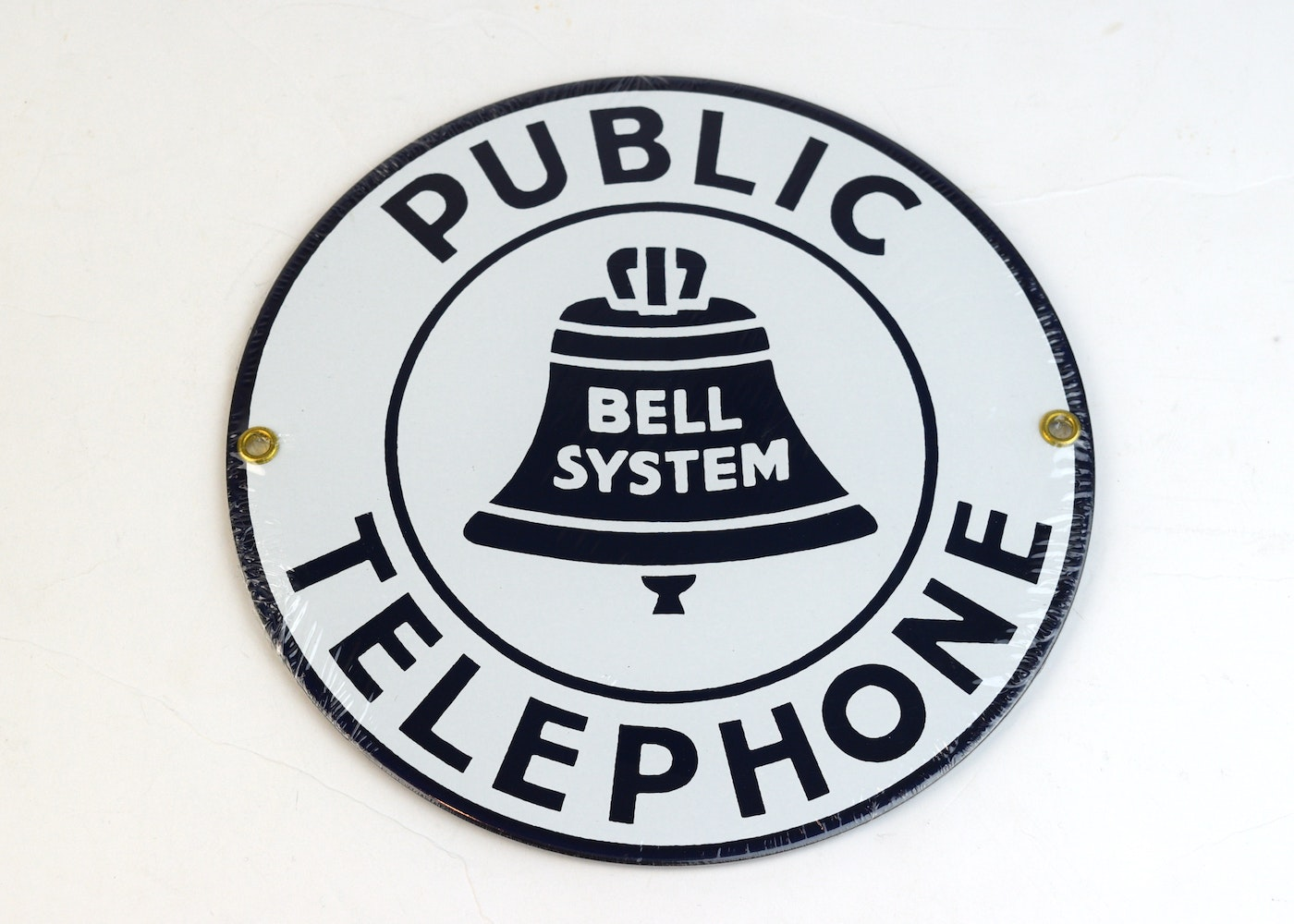 Bell System Public Telephone Sign EBTH