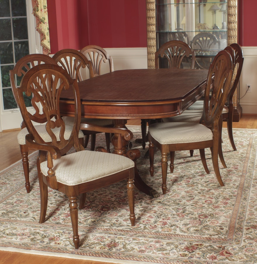 Universal Furniture Federal Style Dining Table And Chairs