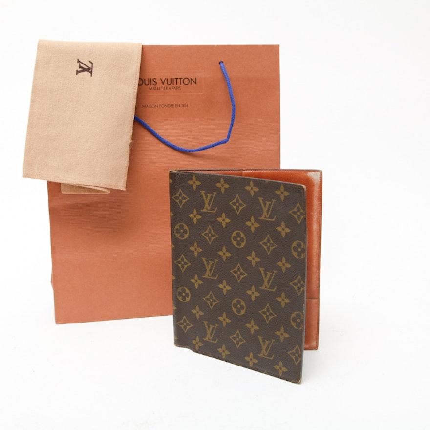 Vintage Louis Vuitton Planner Cover