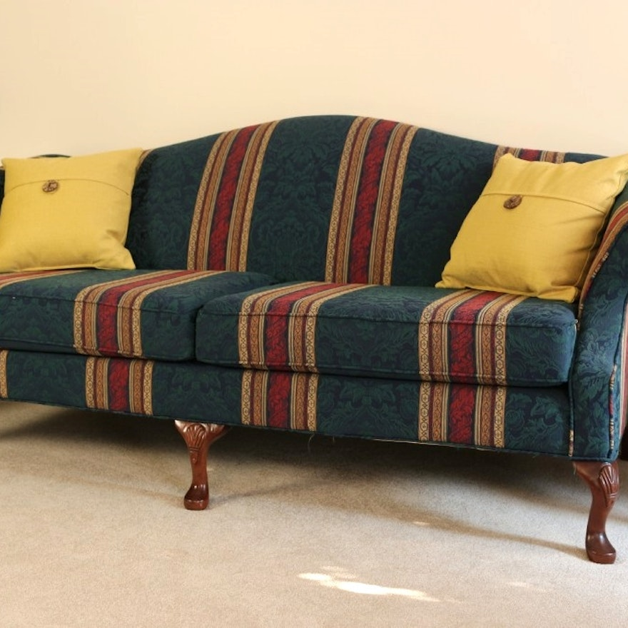 Hickory Hill Camel Back Sofa Ebth