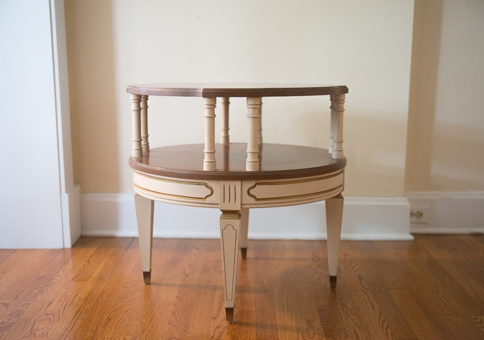 Mersman French Provincial 2 Tiered Side Table ...