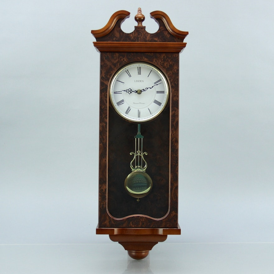 Linden Westminster Whittington Chiming Wall Clock Ebth