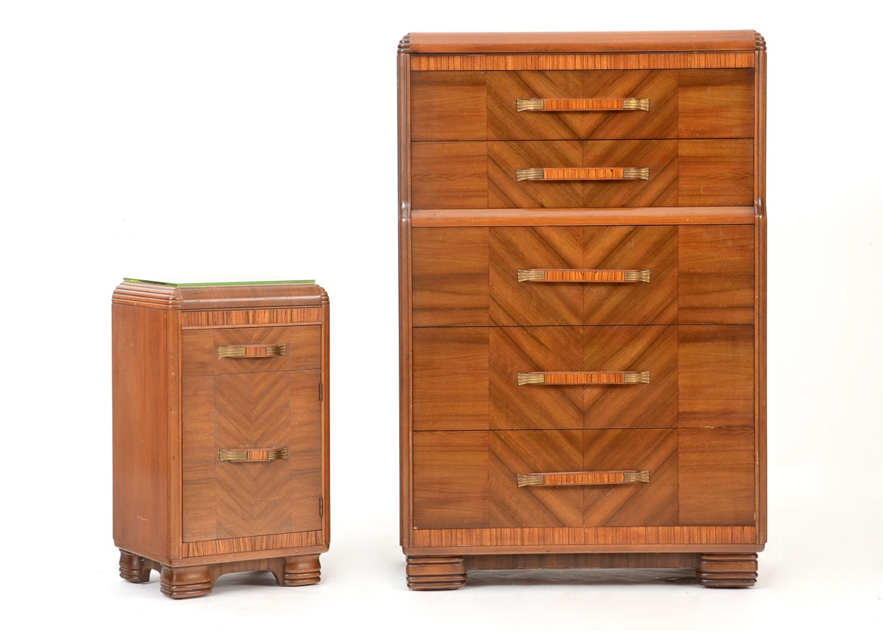 1930s art deco bureau with nightstand