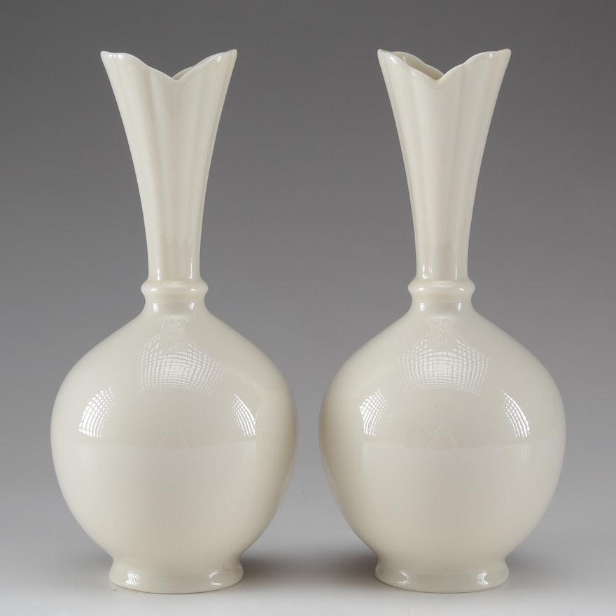 1930 1953 Pair Of Lenox Vases Ebth