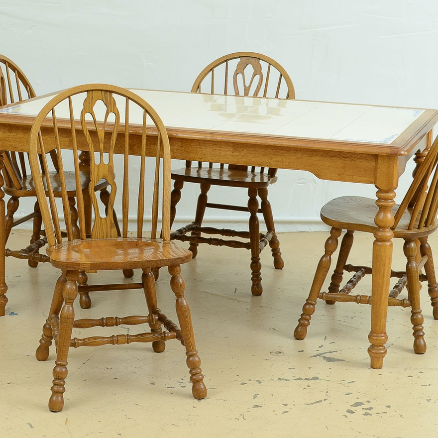 Cochrane Dining Table and Six Chairs : EBTH
