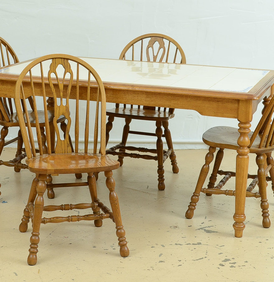 Cochrane Dining Room Furniture: Cochrane Dining Table And Six Chairs : EBTH