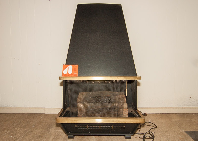 vintage arvin electric fireplace ebth