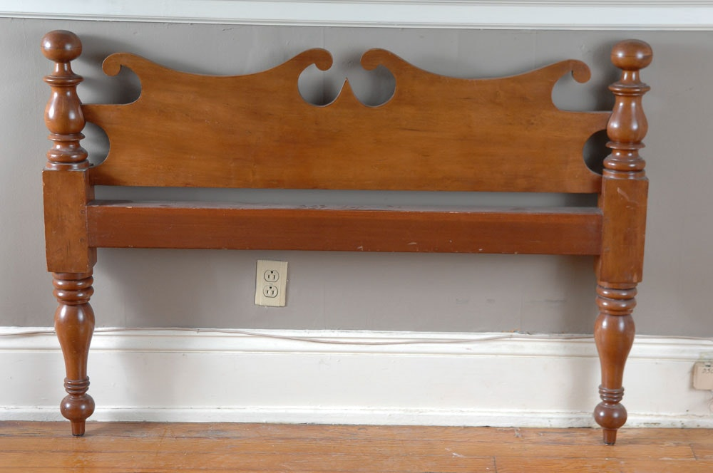 Vintage Maple 3 4 Size Cannon Ball Headboard And Footboard