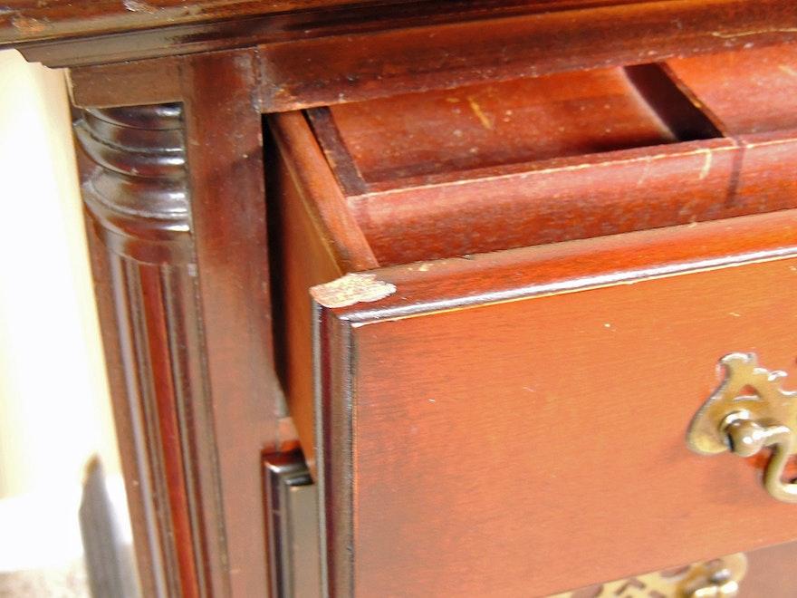 Kling Mahogany Dressing Table Desk With Mirror Ebth
