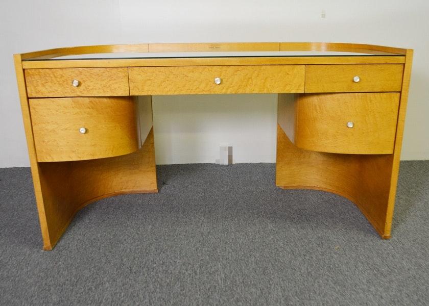 Birds Eye Maple Desk By Bernhardt For Martha Stewart Signature Ebth