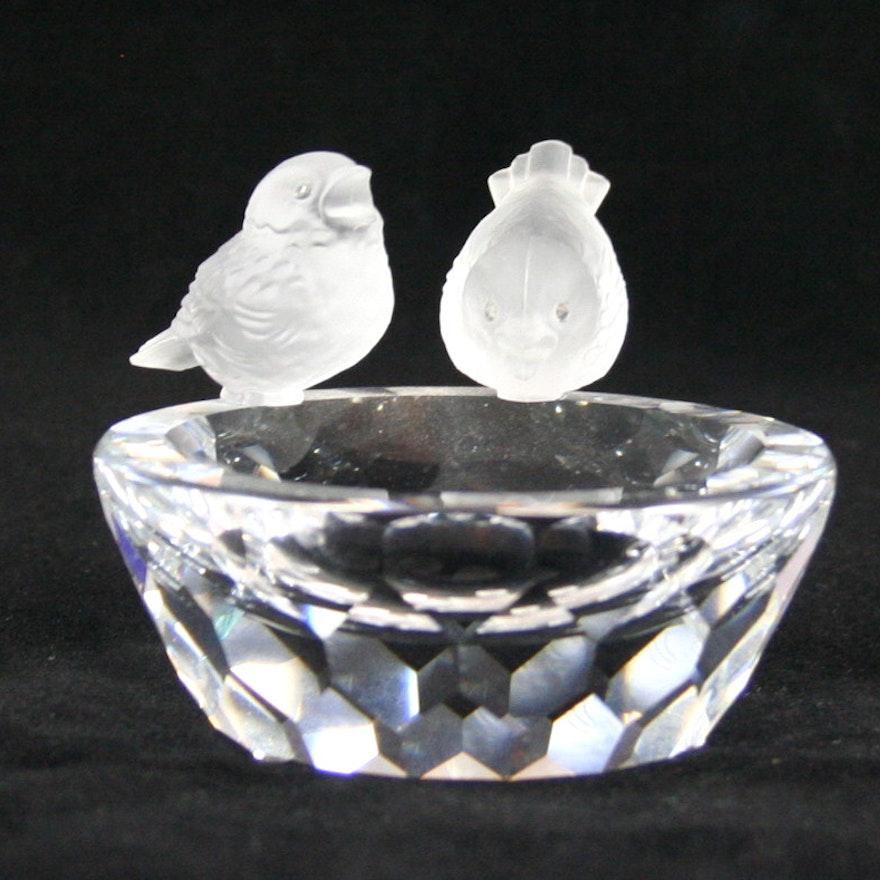 3929f2227 Swarovski Bird Bath Figurine - Retired : EBTH
