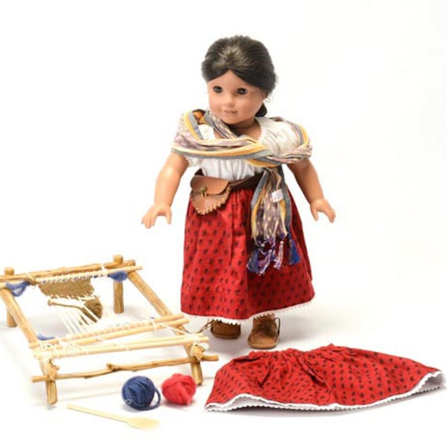 american girl retired josefina montoya doll and weaving loom ebth. Black Bedroom Furniture Sets. Home Design Ideas