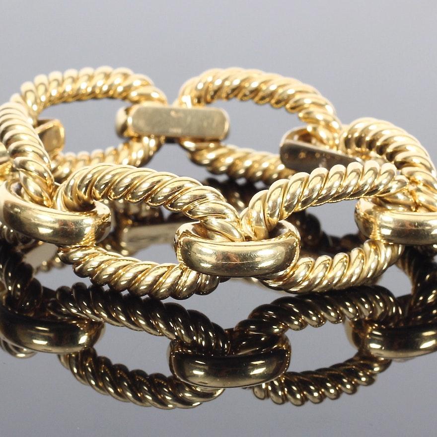 18K Yellow Gold Link Bracelet