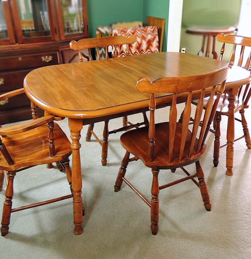 Virginia house dining table and four chairs ebth