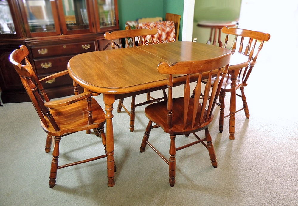 Virginia House Dining Table And Four Chairs ...