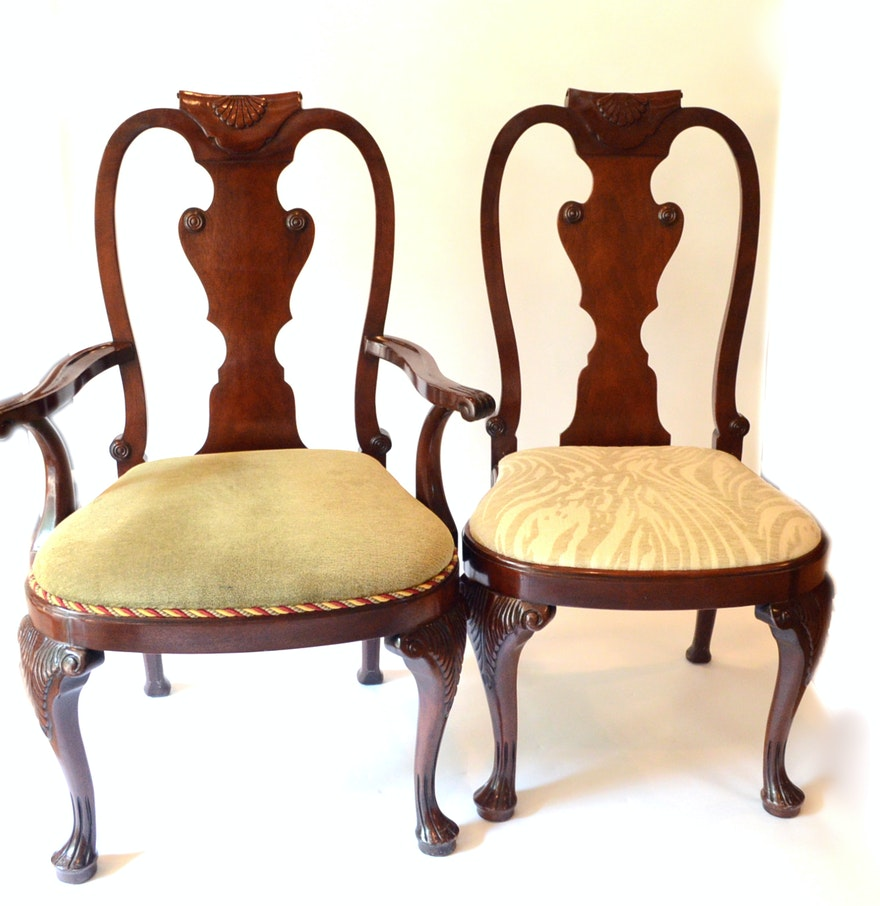 Baker Queen Anne Style Dining Chairs : EBTH