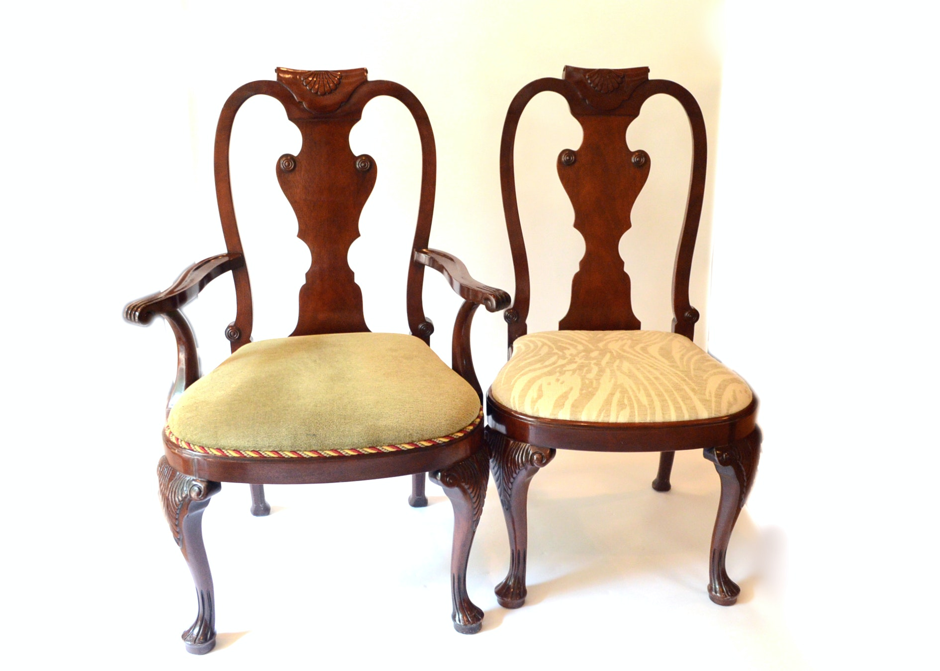 baker queen anne style dining chairs