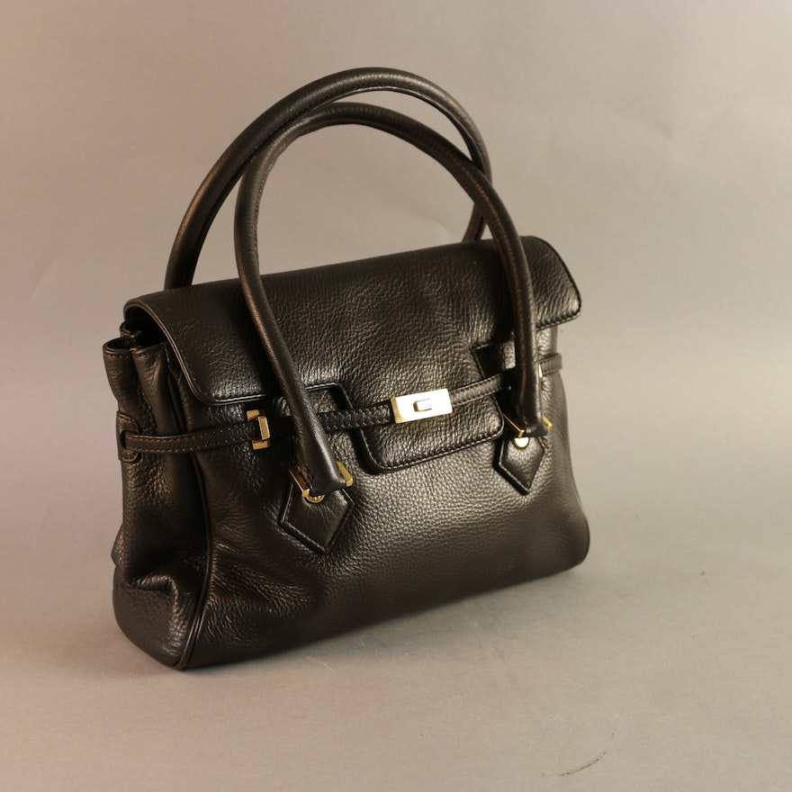 f7458e802a Black Brooks Brothers Genuine Leather Handbag : EBTH