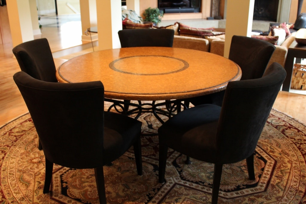 arhaus round dining table arhaus italian mosaic dining table with quot douglas quot chairs 870