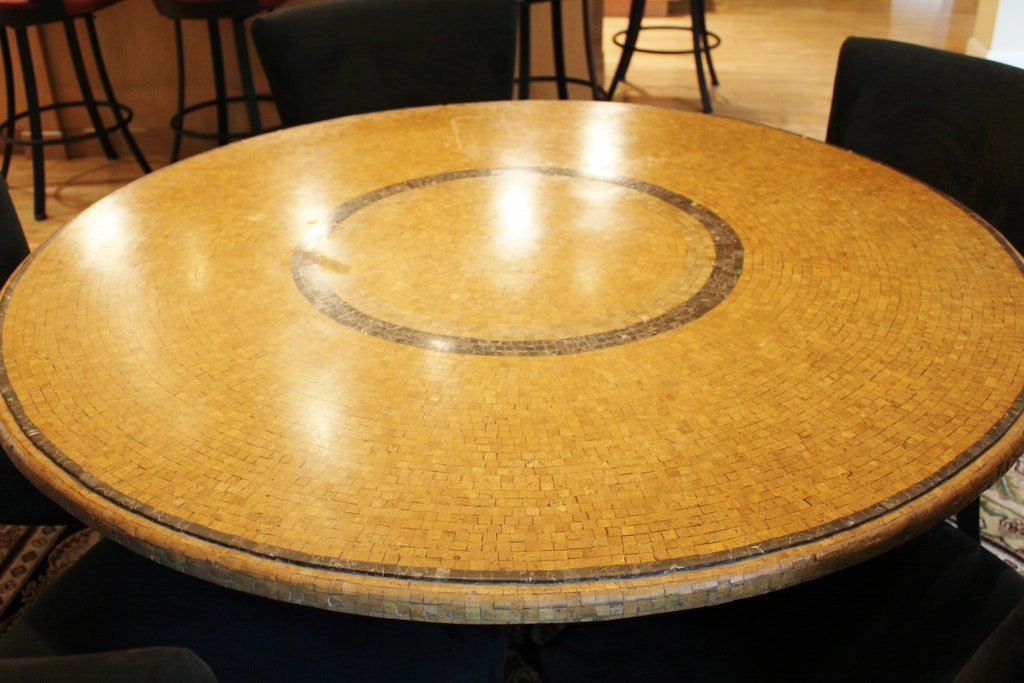 Arhaus Italian Mosaic Dining Table With Quot Douglas Quot Chairs