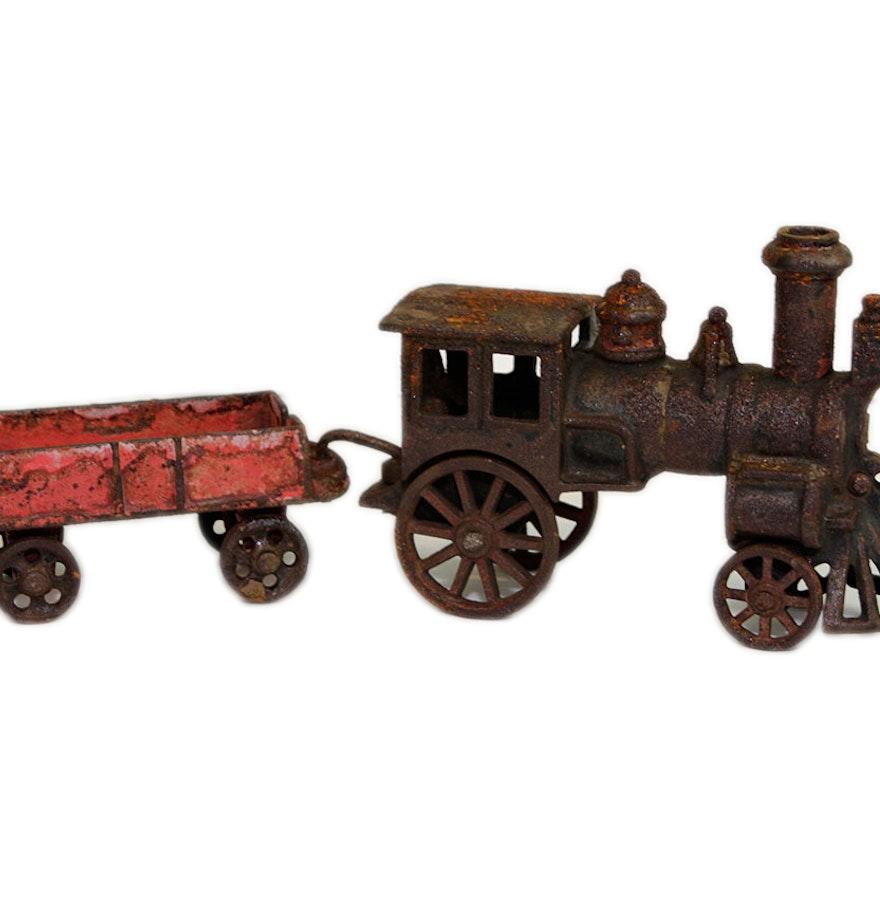 Nycrr Cast Iron Train: Rare 1880s Reiss Cast Iron Toy Train : EBTH