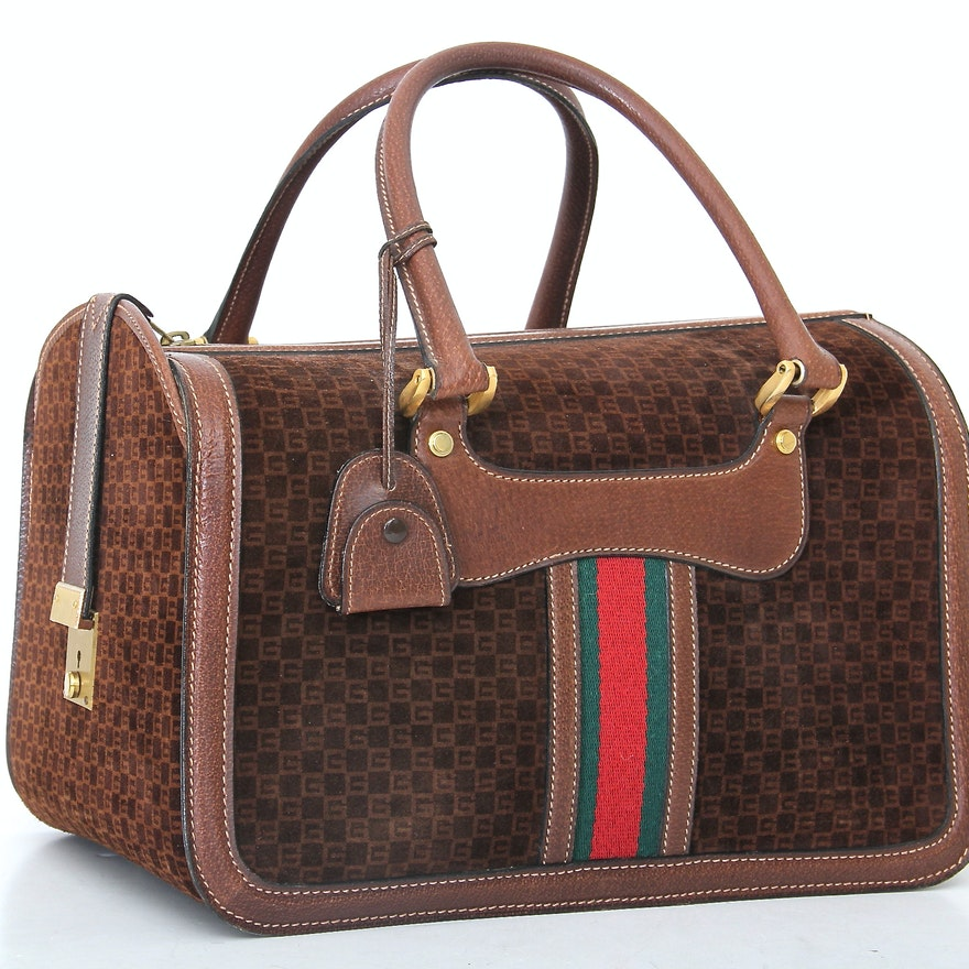 72af6317d3de Vintage Gucci Locking Travel Bag : EBTH