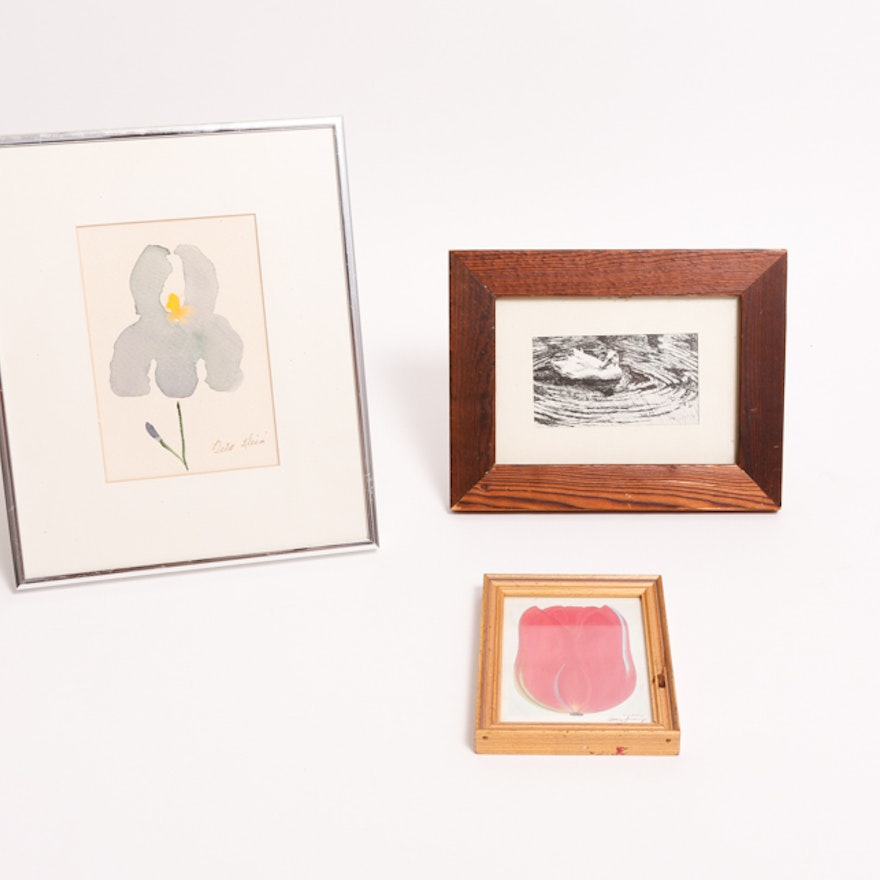 Three Small Framed Art Pieces : EBTH
