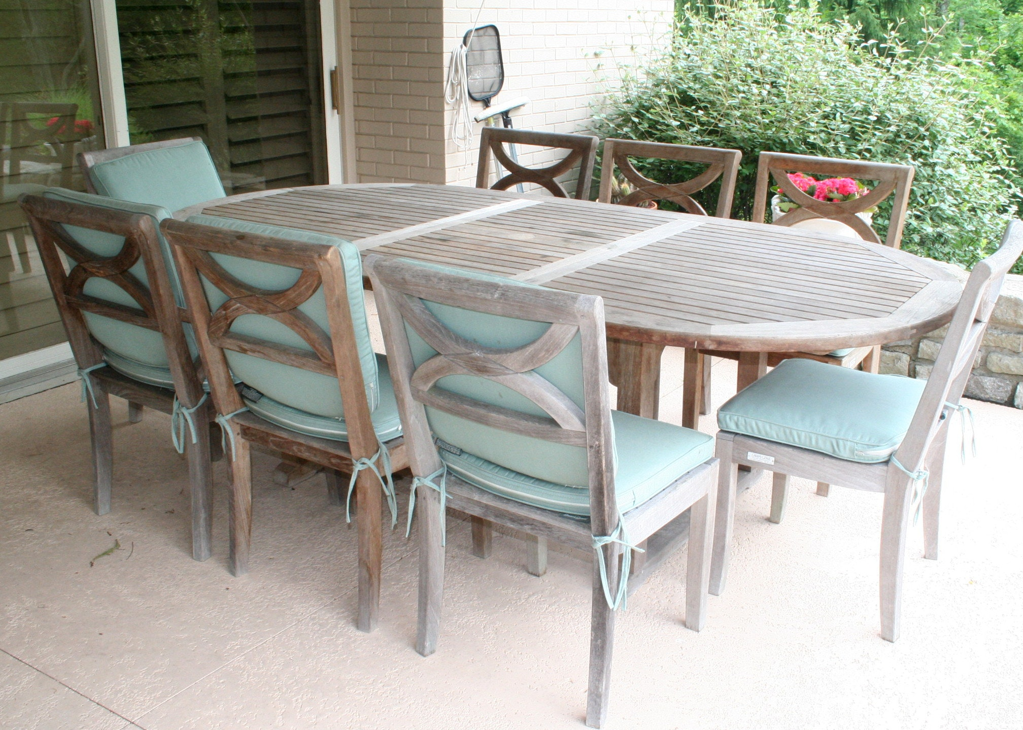 Country Casual Teak Patio Dining Set ...